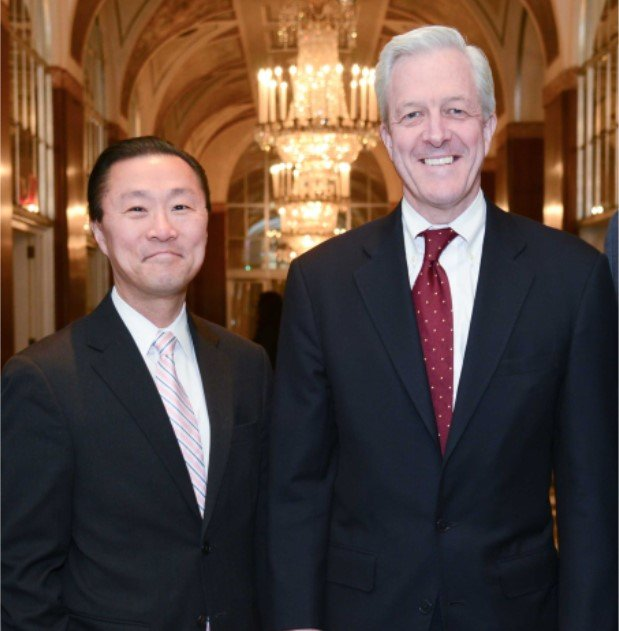 2015 honorees Don Liu of Xerox and Carey Dunne of Davis Polk & Wardwell LLP.