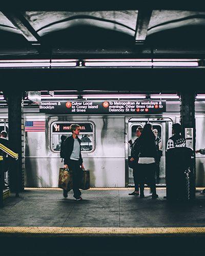 Photo of subway platform