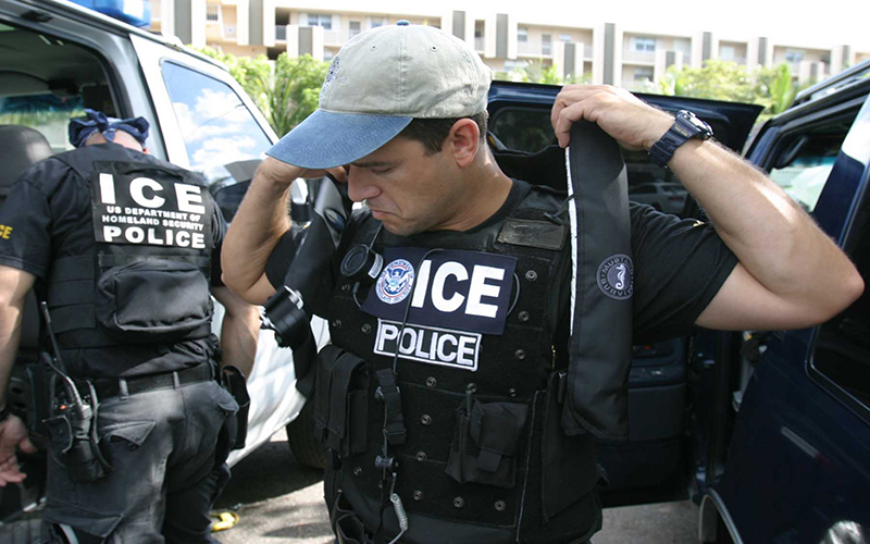 Photo of Immigration & Customs Enforcement officer