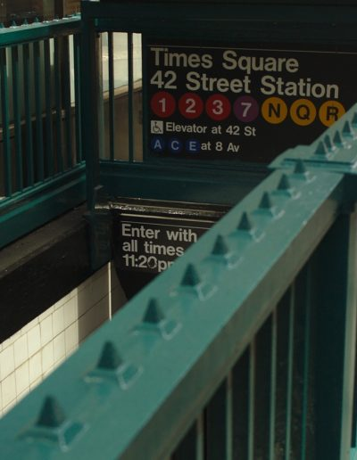 Picture of New York City subway station entrance