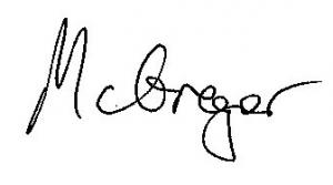 McGregor signature