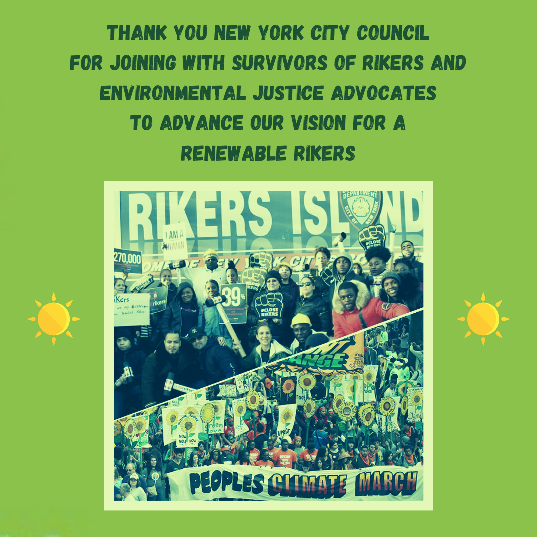Image: thank you to City Council for Renewable Riker's bills