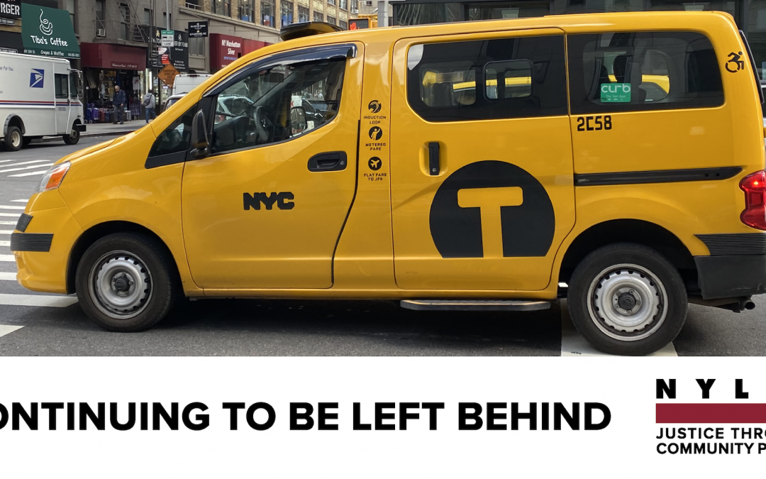 New Yorkers with Disabilities Receive Inferior Services from the For-Hire Vehicle Industry